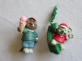 Lot 2x Hallmark 1993 Koala Phone Call Away + 1994 Beaver Grandson Ice Cream - $9.99