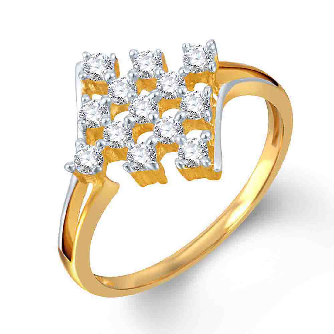 Primary image for 14k White Gold Over 925 Silver Cluster Diamond Ring Women Jewelry Gift For Her