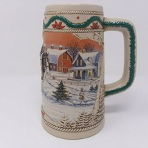 Budweiser Holiday Stein 1996 American Homestead No Box Clydesdale Horse - $8.56