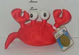 """Disney Club Penguin Series 11 KLUTZY CRAB Red 6"""" Plush Toy Limited Coin ... - $14.03"""