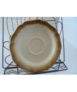 "Set of 6 MIKASA Whole Wheat  E8000 Vintage Ironstone 6 1/4"" Saucers - $9.00"