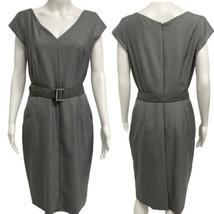 Calvin Klein women's gray Belted Sheath Dress Woman's Size 6 - $28.70