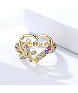 [Jewelry] Mom Heart and Butterfly Ring for Woman/Mother Birthday Gift - $7.89