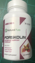 Natural Pure FORSKOLIN WITH 500MG OF PURE EXTRACT 60 Capsules 100% Natural - $12.86