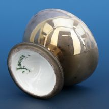 Antique Open Salt Dip Cellar Footed Limoges Mercury Finish image 3