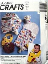 McCall's Pattern 4277 Uncut Diaper Bag /Bottle Holder /Changing Pad /Bib... - $6.60