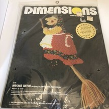 Vintage DIMENSIONS Scandinavian Lore Kitchen Witch Needlepoint #2136 New Sealed - $17.82