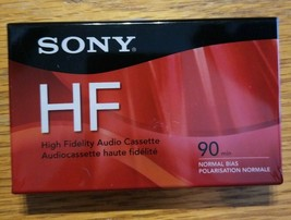 1 Sony HF High Fidelity 90 min Normal Bias Blank Audio Cassette Tape New SEALED - $5.94