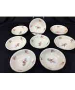 (8) Vintage Household Institute Priscilla Pattern Fruit Dessert Bowls 5.... - $24.99