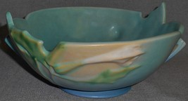 1930s Roseville Pottery THORNAPPLE PATTERN Console Bowl - $178.19