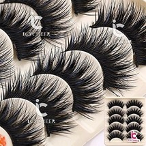 5 Pairs Makeup Long Cross False Eyelashes Nattural False Eye Lash Blue A... - $17.54