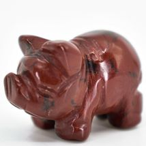 Rainbow Jasper Gemstone Tiny Miniature Pig Hand Carved Stone Figurine image 3
