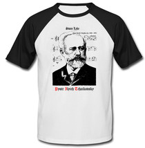 Pyotr Ilyich Tchaikovsky - New Cotton Baseball Tshirt - $27.10