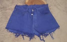 Levis Womens Vintage Cutoff Jean Shorts Size 31 Blue Color Dyed - Button... - $21.77