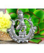 Vintage Hindu Vishnu Deity God Brooch Pin Silver Prasat Kravan Temple - $45.95