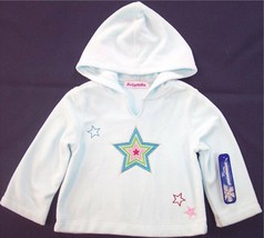 NWT Just Friends Girl's Ice Blue Fleece Hoodie w/ Appliqued Stars, 2T or... - $9.99