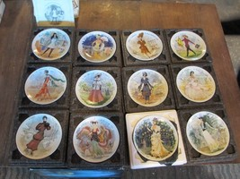 French plates  D'Arceau Limoges Womens fashions over time - $130.00