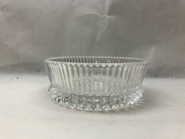 Vintage MID CENTURY Cut Glass CANDY DISH - $19.79