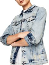 Zara Rare Denim Jacket With Clips Bnwt Light Blue Bnwt M - $70.43