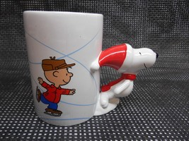 Charlie Brown Peanuts SNOOPY COFFEE CUP MUG Over-Sized Relief Sculpture ... - $19.79