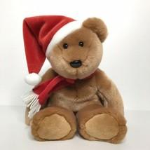 Ty Beanie Buddies Collection Christmas Bear Santa Hat Plush Stuffed Anim... - $19.79