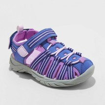 Cat & Jack Toddler Girls Rory Fisherman Camp Shoe Purple Closed Toe Sandals - $18.00