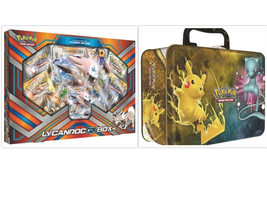 Pokemon Lycanroc GX Collection Box & Shining Legends Collectors Chest Tin Bundle - $54.99