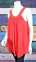 New L Space XS Anthropologie Red Crochet Lace Pazia Gauzy Swim Cover Up ... - $49.49