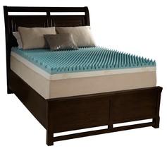 """2"""" Cal King Egg Crate Foam Mattress Topper Beautyrest Gel Memory Bed Cus... - $109.95"""