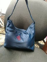 Red Embossed Ralph Lauren Purse navy blue women bag - $18.00+