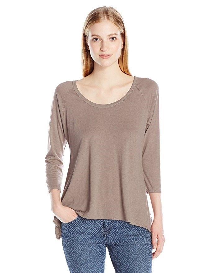 Junior Women's O'Neill Tee Shirt 3/4 Sleeve Scoop Neck VANCE T-Shirt