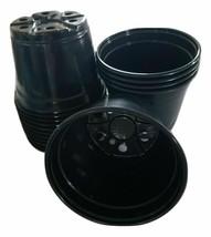 "6 inch Round Black Plastic Pots - SET OF 220 - (6"" x 4.4"")  flower pot N... - $61.90"