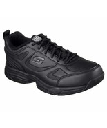 77200 W Wide Fit Black Skechers shoes Women's Work Memory Foam Slip Resi... - $56.99
