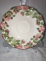 "3 NIKKO FINE TABLEWARE ""PRECIOUS"" Saucers Pink Flowers Green Leaves Repl... - $5.90"