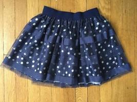 * childrens place navy blue white polka dot skirt medium 7 - 8 - $6.93