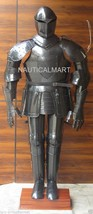 Full Size Medieval Knight Black Suit Of Armor Wearable Halloween Costume  - $799.00