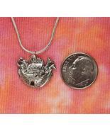 """Noah's Ark Necklace, Old Testament Bible Stories Charm Pendant (28"""") - $44.54"""