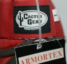 Cactus Gear ARMORTEX Large Red Axiom No Turn Bell Boots Horse image 5