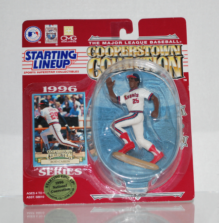 Rod Carew #29 1996 Starting Line Up MLB Angels Figure & Card by Kenner