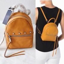 ✨New Rebecca Minkoff Madison Small Studded Leather Backpack Mustard $295 Nwt - $132.60