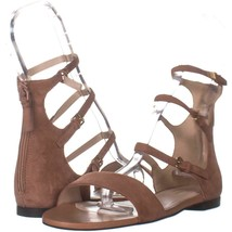 Cole Haan Cielo Strappy Flat Sandals 765, Mocha Mousse, 8.5 US - $48.95