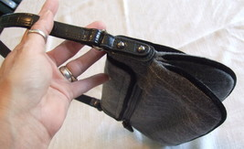 Small Gray Wool Blend Purse with Button, bead and Feather Embellishments image 11