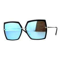 Womens Fashion Sunglasses Square Double Frame Designer Style Shades - £9.24 GBP