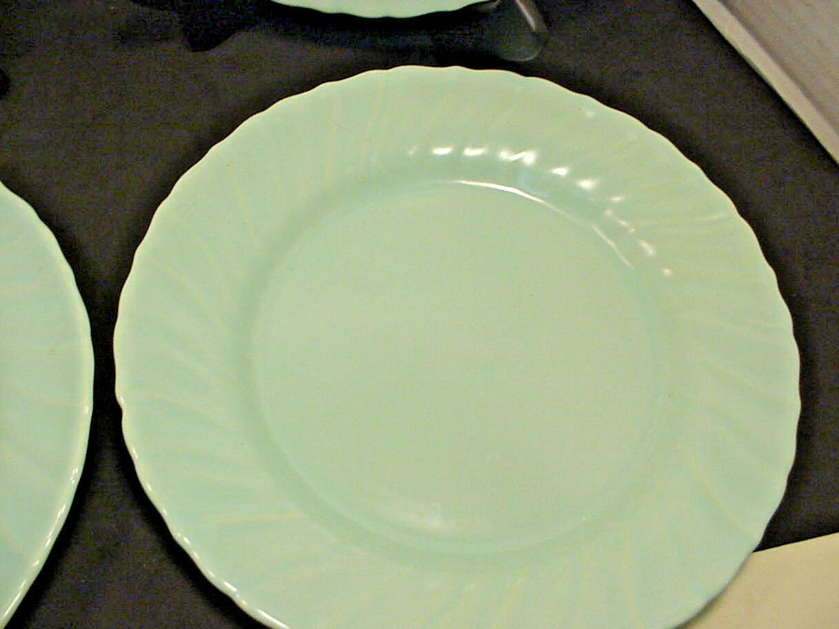 Franciscan Coronado Aqua Matte 4 Luncheon Plates Blue