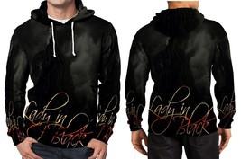 Silverhawk - Quick Ken Hensley Lady In Black Hoodie Fullprint Men Silver Hoodie M - $41.80