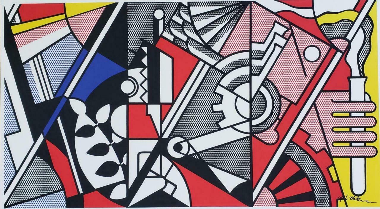 Roy Lichtenstein, Peace through Chemistry , 1969 hand signed offset lithograph