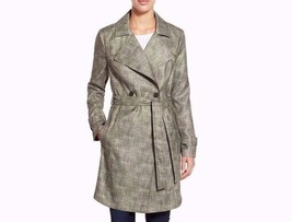 New Kenneth Cole New York Ladies Double Breasted Belted Trench Coat Oliv... - $141.56