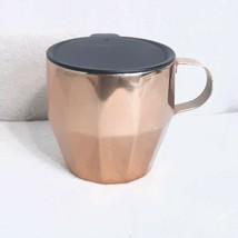 Starbucks Coffee mug Geometric Copper Color Metal Cup metal W/ Lid Handl... - $18.88