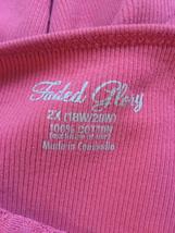 womens faded glory pink top sz 2x drh036 - $10.80