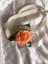 Peach Rose Wrist corsage - $4.75